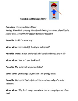 Play for Children:  Pinocchio and the Magic Mirror