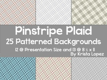 Pinstripe Plaid - 25 *FREE* Digital Backgrounds