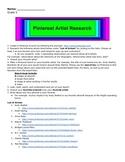 Pinterest Artist Research