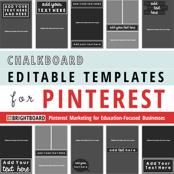Pinterest Image Templates: Chalkboard