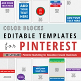 Pinterest Image Templates: Color Blocks