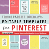 Pinterest Image Templates: Transparent