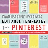 Pinterest Image Templates: Transparent