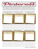 Pinterest Pinboard Activity  Character or Historical Figure Analysis
