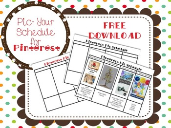 Pinterest Scheduling Template -Pic-Your Schedule