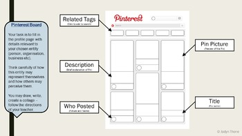 Pinterest Board Template, Presentation and Exit Slip