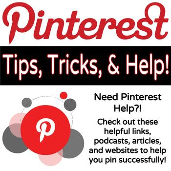 Pinterest Tips, Tricks, and Help!