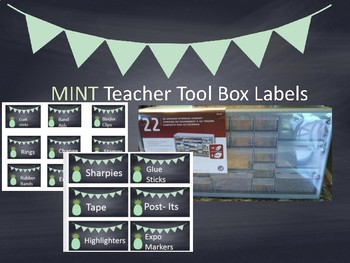 Pinterest Toolbox mint with or without pineapple tool box