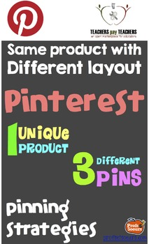 Pinterest & TpT: Same product with different layout