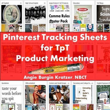Pinterest Tracking Sheets for TpT Product Marketing