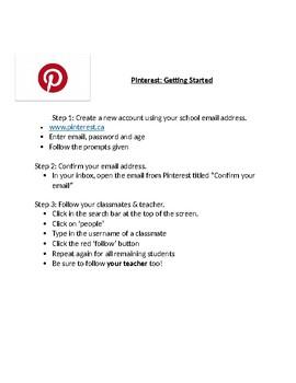 Pinterest Vocabulary Activity