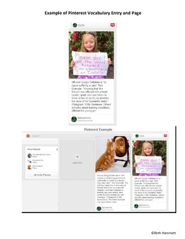 Pinterest Vocabulary Project