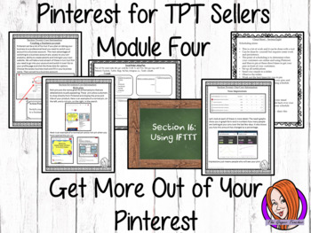 Pinterest for TPT Sellers – Module Four: Getting More From Your Pinterest