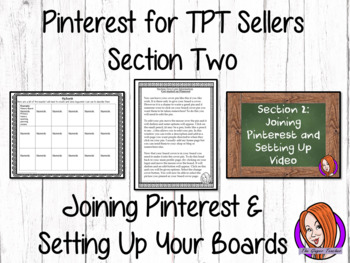 Pinterest for TPT Sellers Section 2: Joining Pinterest and Setting Up Your Boads