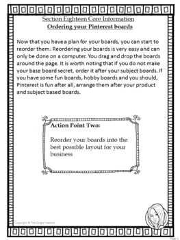 Pinterest for TPT Sellers – Section Eighteen: Ordering Your Boards