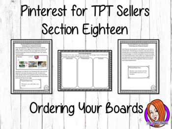 Pinterest for TPT Sellers – Section Eighteen: Ordering You