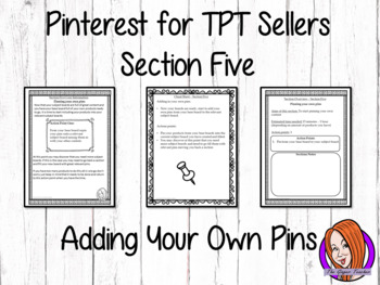 Pinterest for TPT Sellers – Section Five: Pinning Your Own Pins