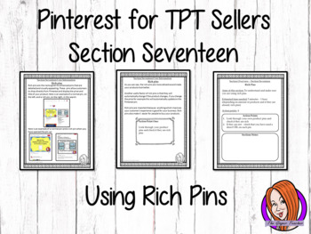Pinterest for TPT Sellers – Section Seventeen: Understanding and Using Rich Pins