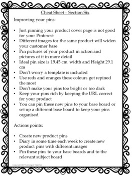 Pinterest for TPT Sellers – Section Six: Improving Your Pins