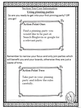 Pinterest for TPT Sellers – Section Ten: Pinning Parties
