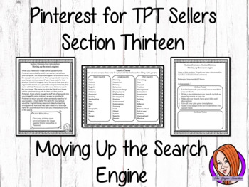 Pinterest for TPT Sellers – Section Thirteen: Moving Up the Search Engine