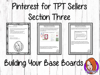 Pinterest for TPT Sellers – Section Three: Building Your B