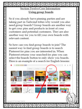 Pinterest for TPT Sellers – Section Twelve: Using Group Boards