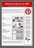 Pinterest to PDF: A Resource