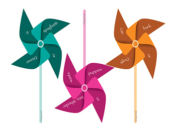 Pinwheel Craze - Formulating and Using Sentences with Coordinating Conjunctions