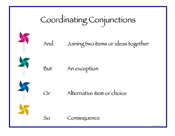 Formulating Sentences and Questions with Coordinating Conjunctions