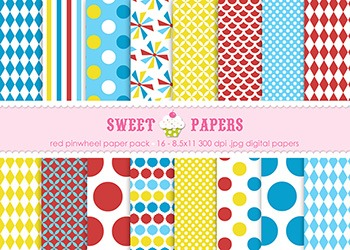 Pinwheel Digital Paper Pack