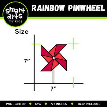 Pinwheel Rainbow Clip Art