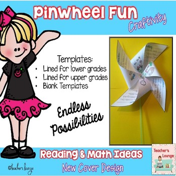 Reading and Math Pinwheel Fun - Center Activity - Bulletin