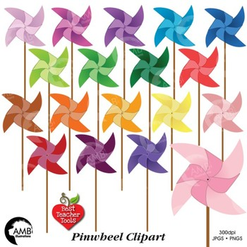 Pinwheel clipart, Pinwheels Clip Art, AMB-517