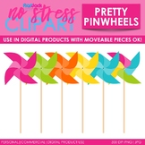 Pinwheels Clip Art (Digital Use Ok!)