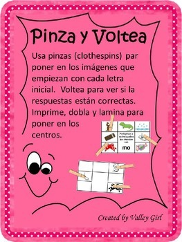 Pinza y Voltea: Silabas con m o p