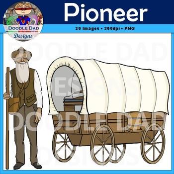 Pioneer Clip Art (Oregon Trail, Settlers, Dust Bowl, Great Depression, Wagon)