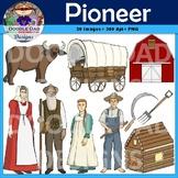 Pioneer Clip Art (Oregon Trail, Settlers, Dust Bowl, Great