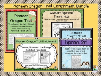 Pioneer Oregon Trail Enrichment BUNDLE