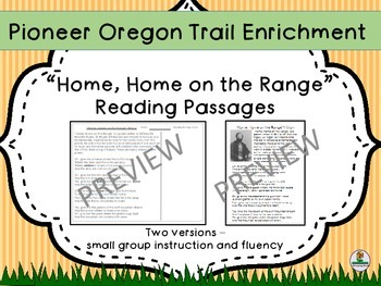"Pioneer Oregon Trail ""Home on the Range"""