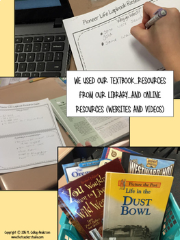Pioneer Research Lap Book or Interactive Notebook Resource