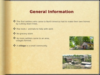 Pioneer Village PowerPoint Presentation