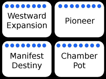 Pioneer Word Wall Cards: Blue and Black Theme