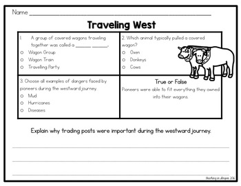 Pioneers - A Westward Expansion Literacy Unit