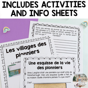Pioneers Activity Set - French Version *Based on the new Ontario Curriculum*