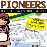 Pioneers:  Pioneer-themed math and ELA learning activities