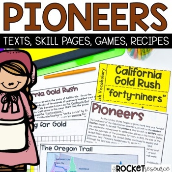 Pioneers:  Pioneer-themed math and ELA common core learnin