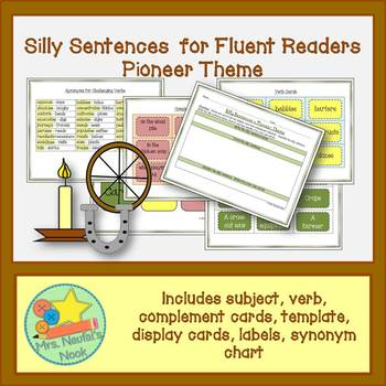 Pioneers Word Work- Silly Sentences for Fluent Readers
