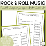Rock and Roll Music Listening Worksheets