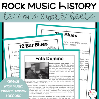 MUSIC : Pioneers of Rock - Unit of Work for Middle School Students